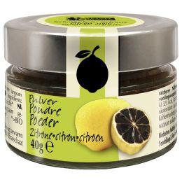 Getrocknetes schwarzes Zitronenpulver Bio