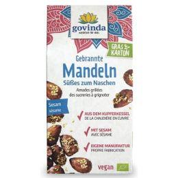 Gebrannte Mandeln mit Sesam bio